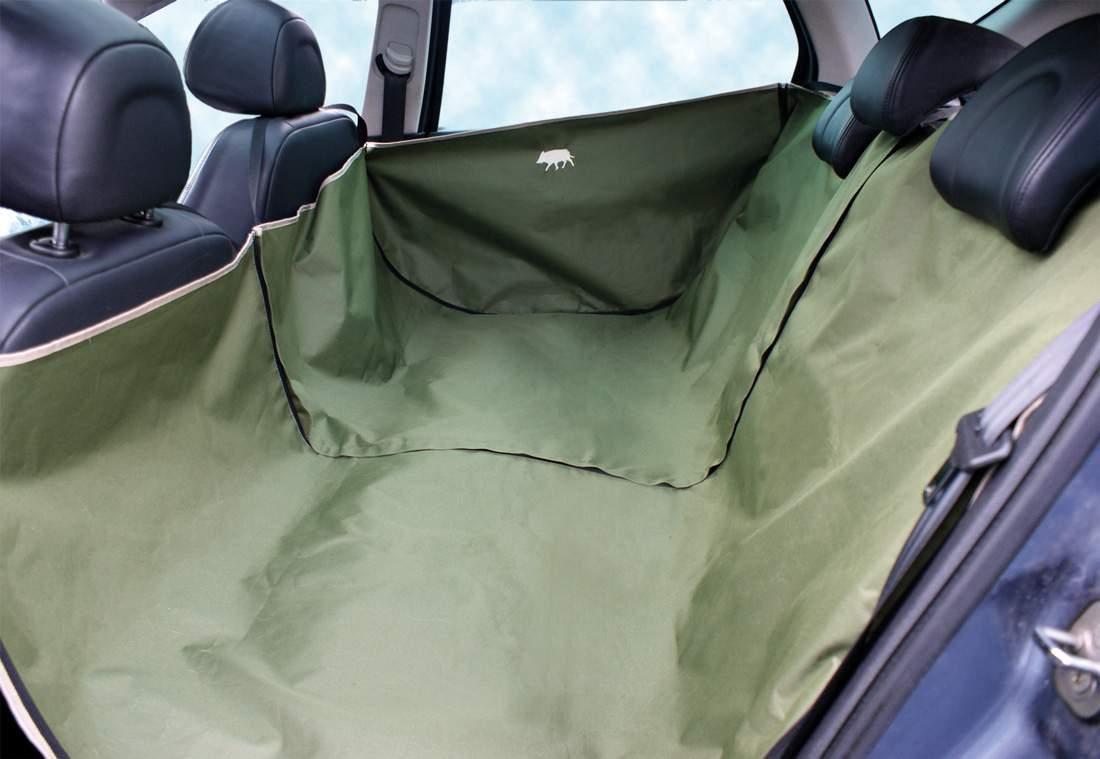 Bache de protection poils de chien dans voiture banquette ar for Housse protection siege voiture pour chien
