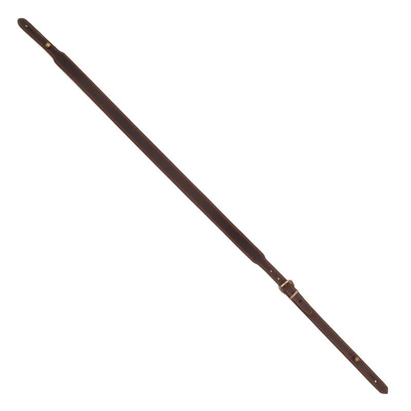 Bretelle de fusil cuir vieilli avec mousquetons et re glable