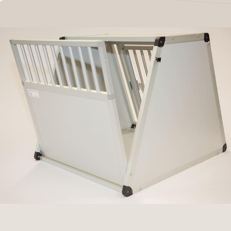 cage aluminium chien pour coffre de voiture 65 x 50 x 82 cm. Black Bedroom Furniture Sets. Home Design Ideas