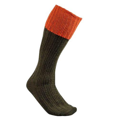 Chaussette knickers en laine chaude club interchasse natun orange rouille