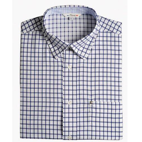 Chemise grands carreaux bleus blanc club interchasse arras