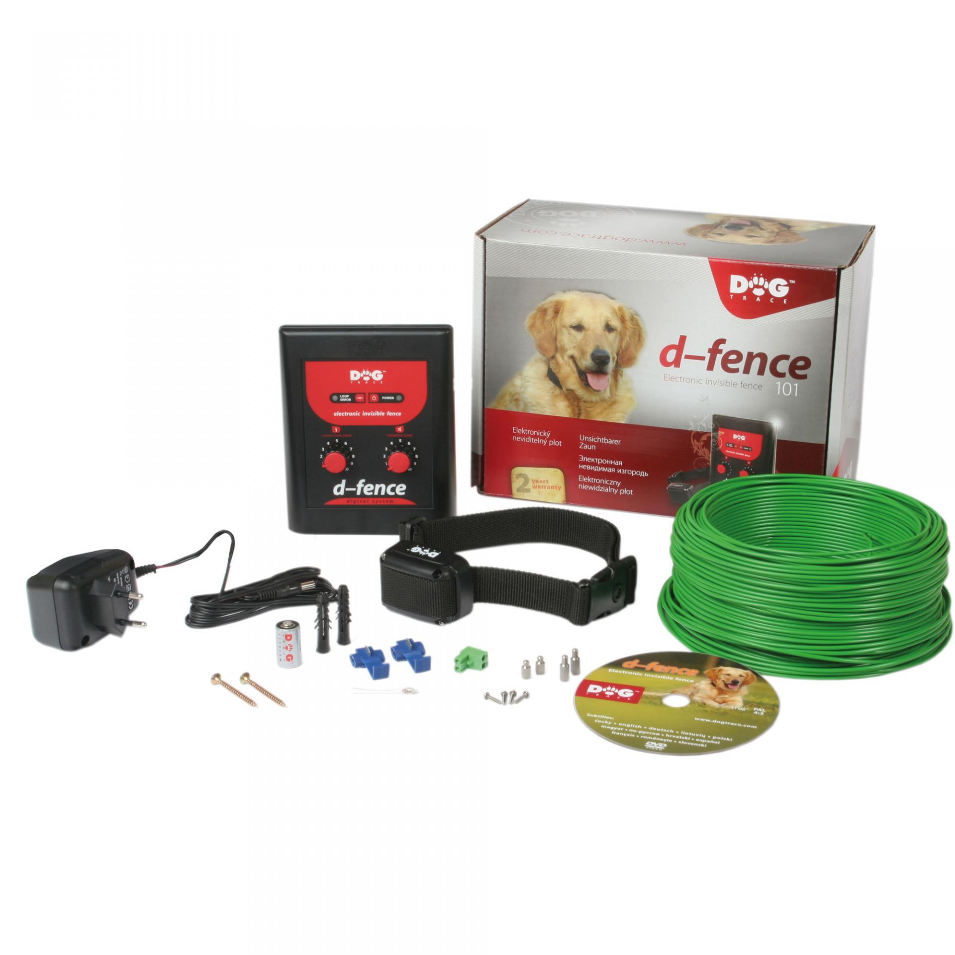 Clo ture e lectrique invisible pour chien de la marque dog trace d fense 101 empe che les chiens de s e chapper