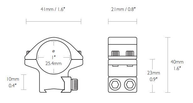 Coliier 25 4 bas pour rail 9 11 mm