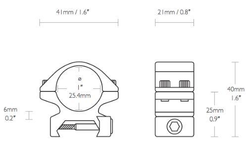 Collier de montage diametre 25 4 rail weaver tre s bas