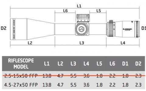 Dimensions athlon ares btr hd 4 5 27x50 aplr3 ffp