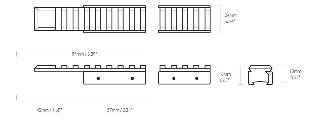 Embase embase adaptateur 11mm picatinny weaver