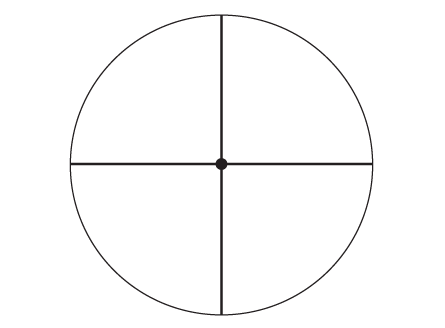 Fine crosshair dot reticle