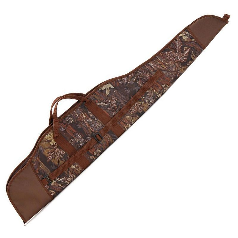 Fourreau a carabine avec lunette 120 cm camo feuille marron