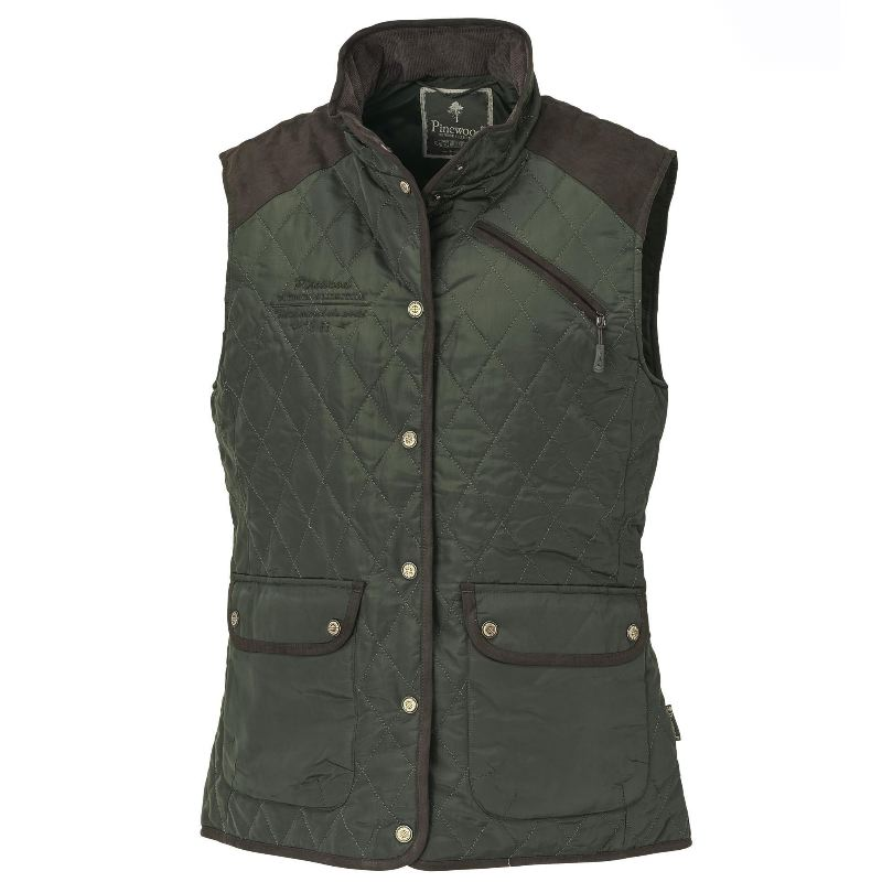 Gilet chasse coupe vent matelasse coupe femme pinewood vert