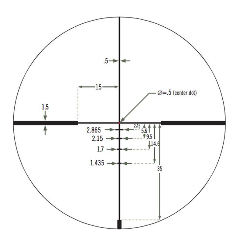 Jm1 bdc re ticule de vortex razor 1 6x24