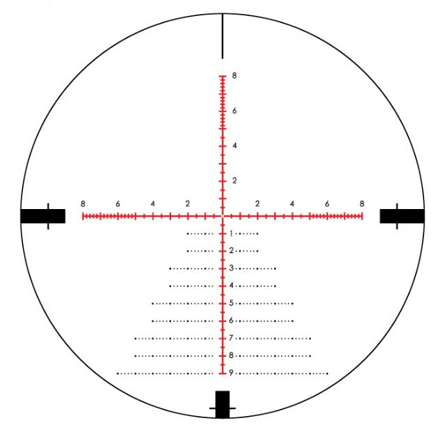 Lunette 5 20x50 vortex razor hd milliradian