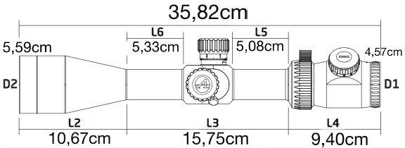 Lunette 6 24x50 athlon argos btr dimensions1