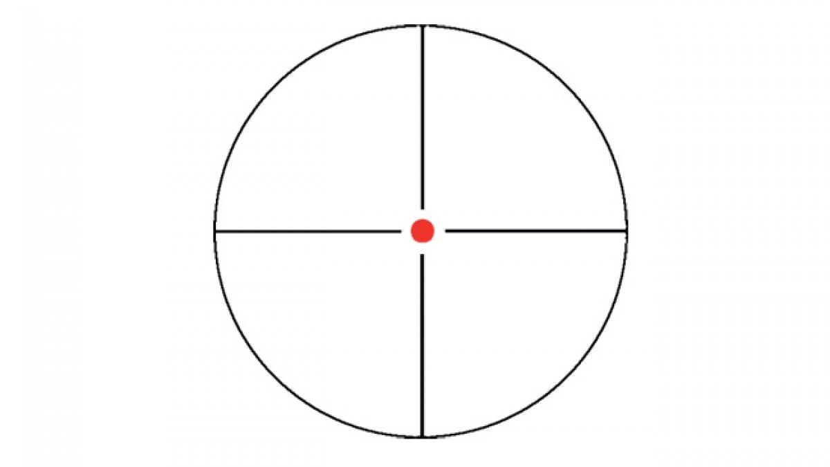 Lunette konus reticule crosshair lumineux
