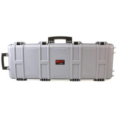 Mallette arme waterproof 105x33x15 avec mousse gris clair