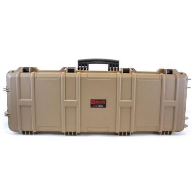 Mallette arme waterproof 105x33x15 avec mousse tan beige