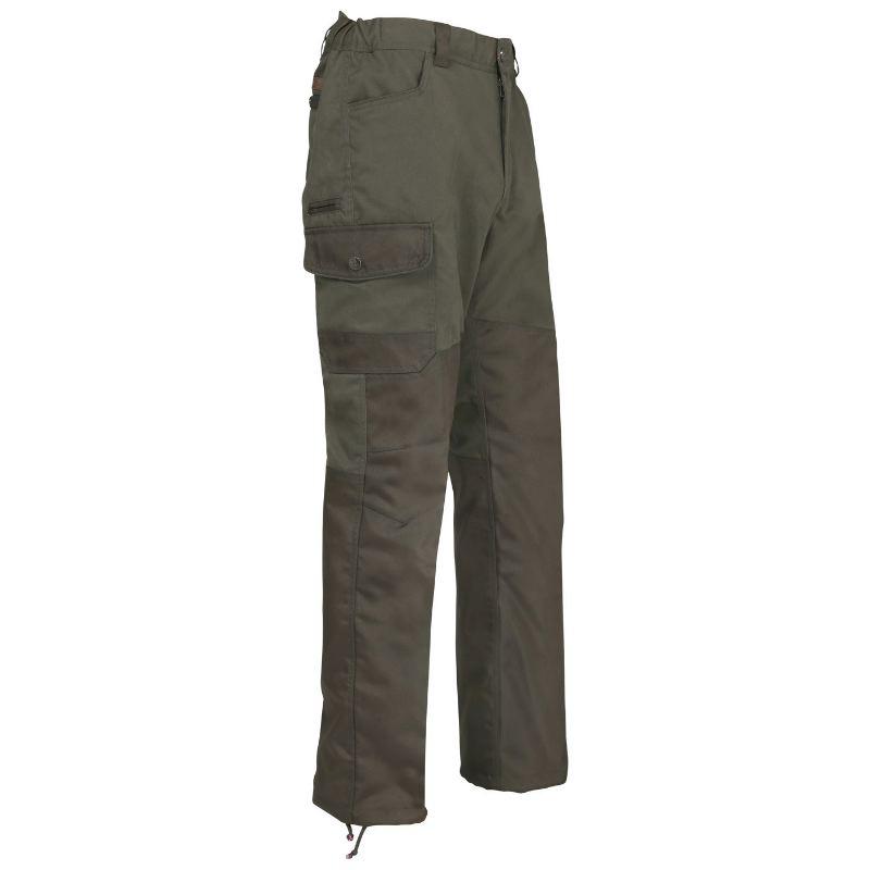 Nouveau pantalon anti ronce de chasse couleur kaki percusion