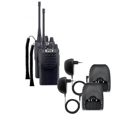 Paire de talkies walkies PMR étanches IPX6 5 km