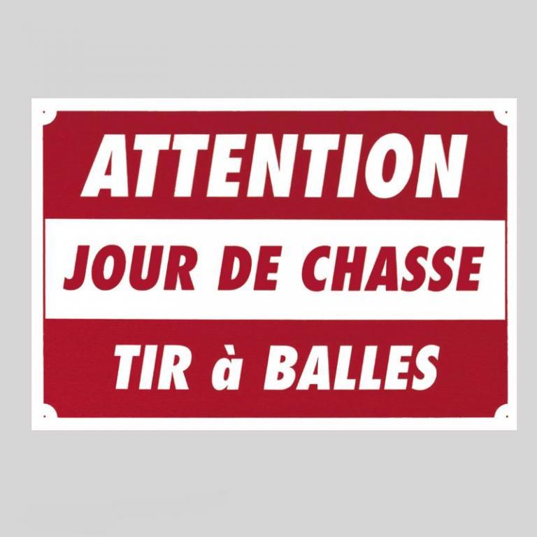 Plaque de signalisation TIR A BALLES