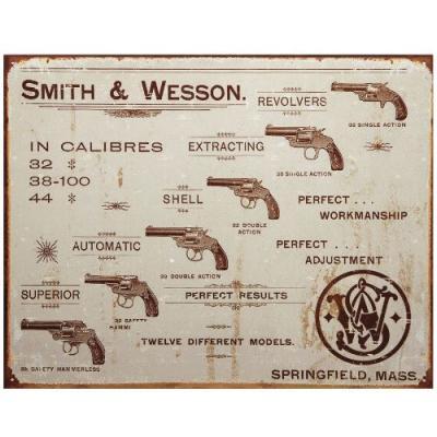 Plaque Métal Smith & Wesson
