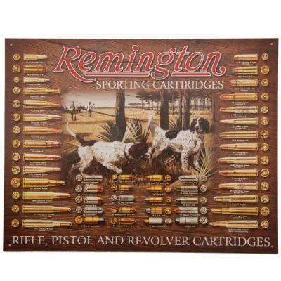 Plaque Métal Remington avec chiens de chasse