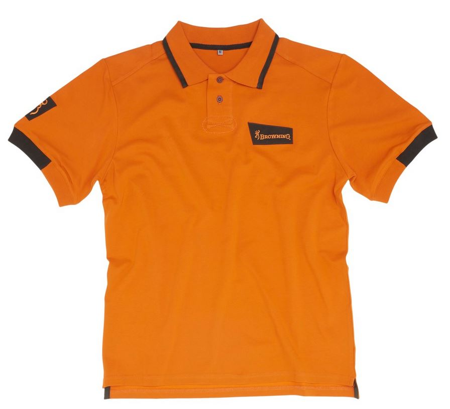 Polo browning ultra orange pas cher chasseur et compagnie