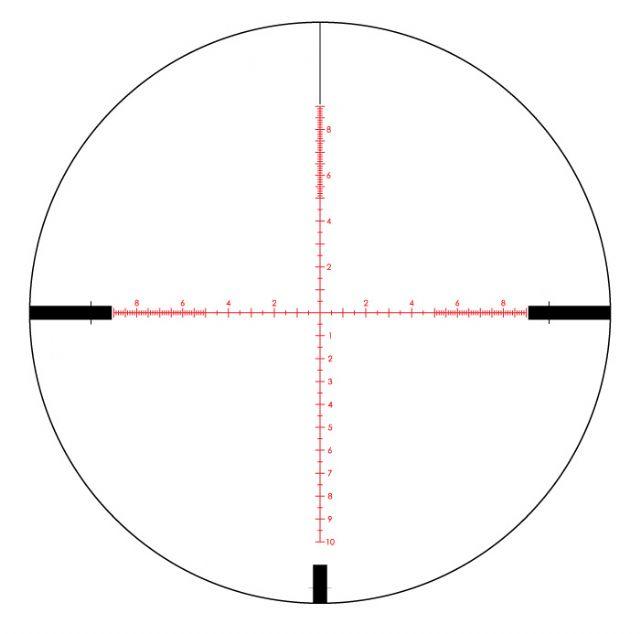 Re ticule milliradian pour tir de precision