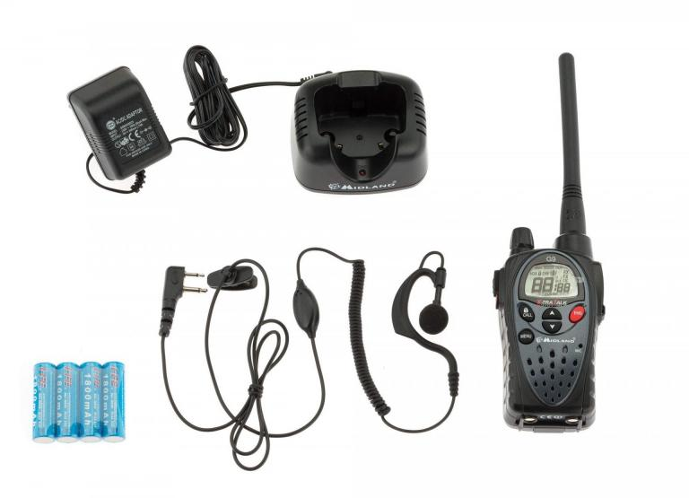 Talkie walkie Midland G9 avec kit oreillette