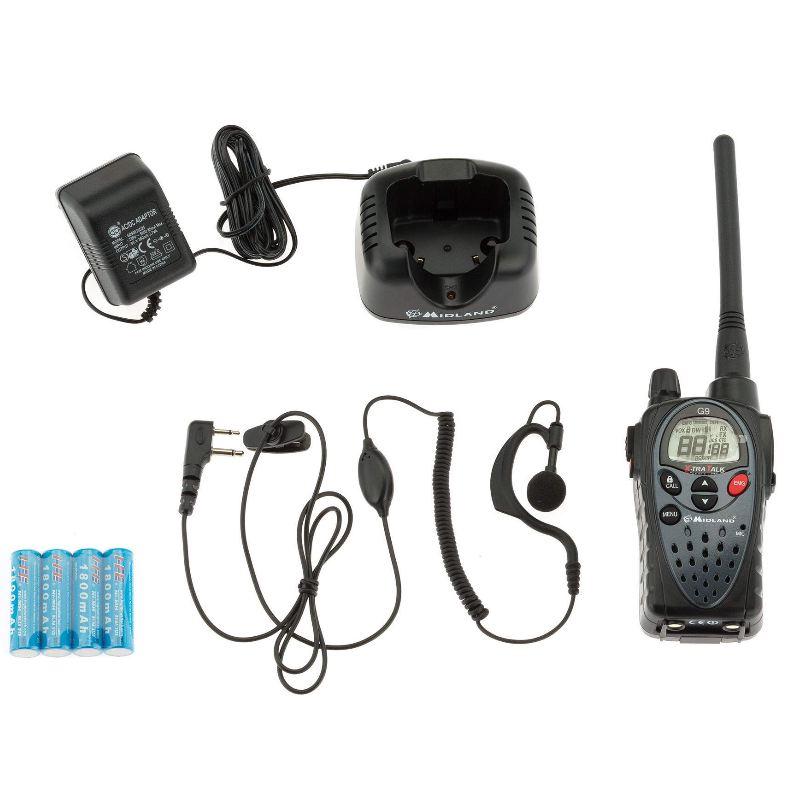Talkie walkie midland g9 avec oreillette socle de chargement
