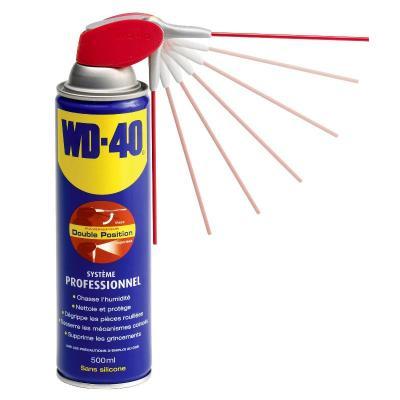 WD40 en spray avec tête pro 2 jets