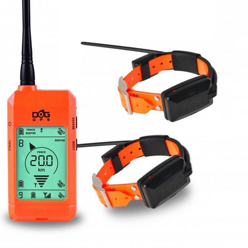 2 X Collier GPS sans abonnement Dog Trace X20 orange