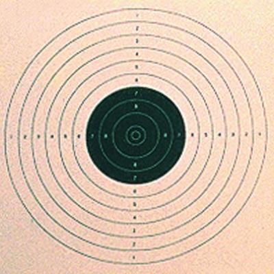 Carton cible U.I.T. 17x17 cm x 500