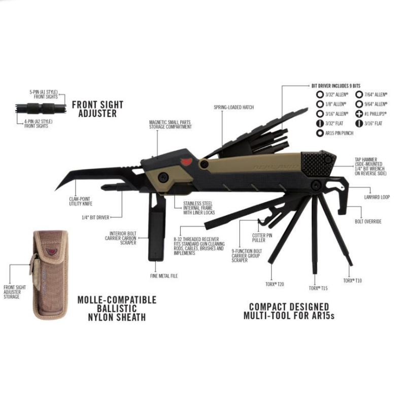 Ar15 gun tool pro real avid outil multi fonction d entretien1