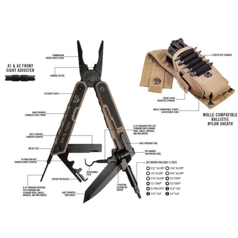 Ar15 tool real avid avec pochette molle outil multiple1