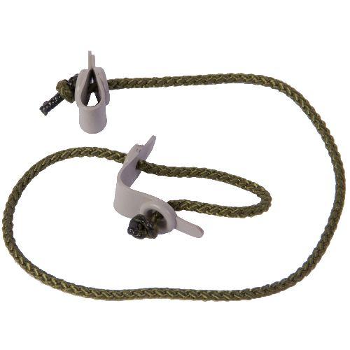 Attache appelant vivant avec corde et languette fermeture par e tranglement chasseur et compagnie