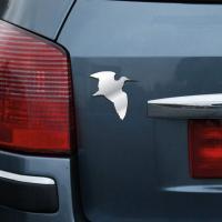 Autocollant carrosserie chrome 3d chasseur becasse