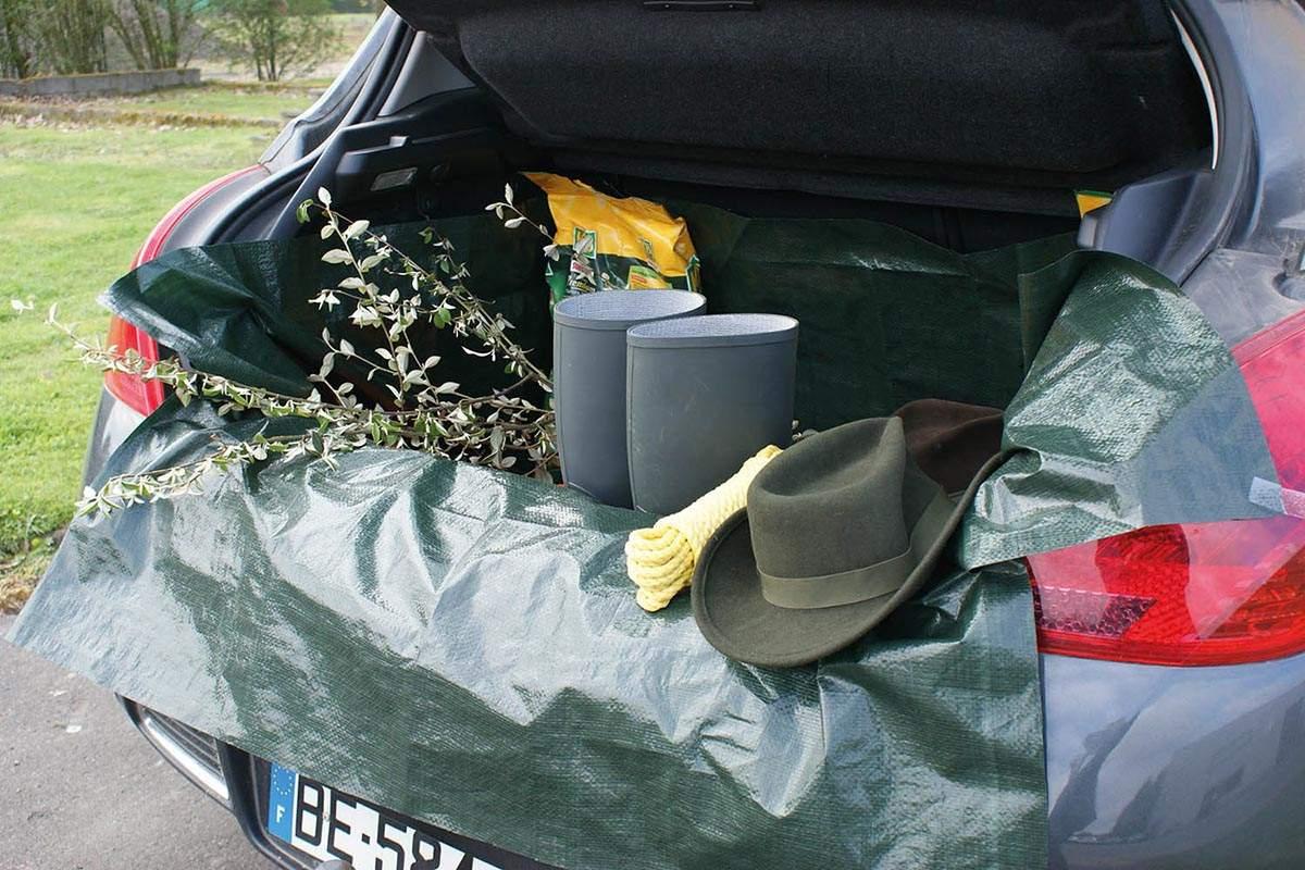 Bache de protection coffre de voiture automobile universelle chasseur et compagnie