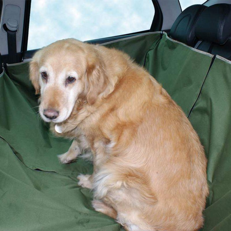 Bache de protection poils de chien dans voiture banquette ar