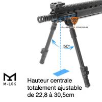 Bipied carabine compatible magpul utg leapers 22 8 a 30 5cm