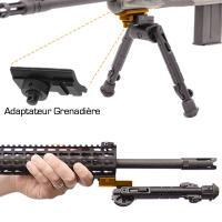 Bipied pour carabine recon 360 17 7 23cm utg tete rotative1