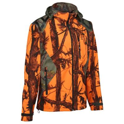 Blouson de chasse percussion softshell ghostcamo blaze black