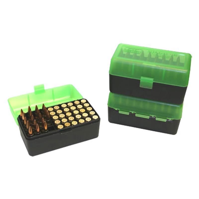 Boite à munitions 50 compartiments MTM RLLD-50