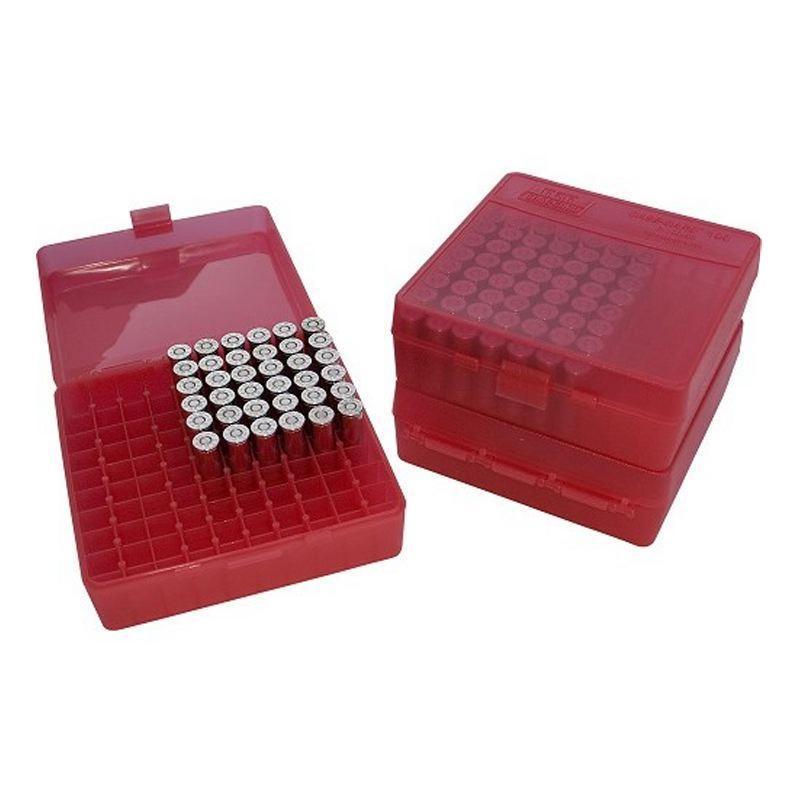 Boite a munitions plastique rouge pour 38 357 par 100