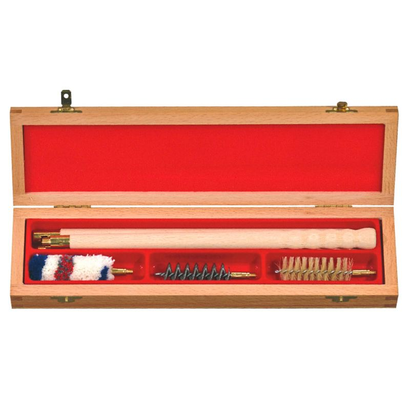 Boite de nettoyage bois type plumier carabine fusil 12 16
