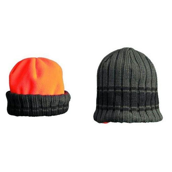 Bonnet de chasse polaire browning re versible vert et orange