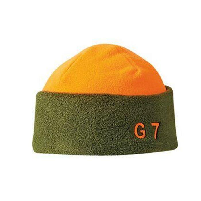 Bonnet polaire verney carron g7 vert orange pour chasseurs