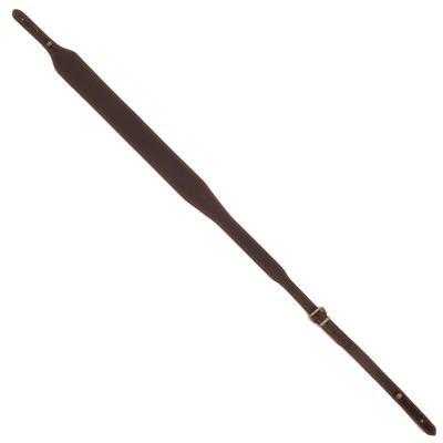 Bretelle carabine en cuir vieilli et cousu