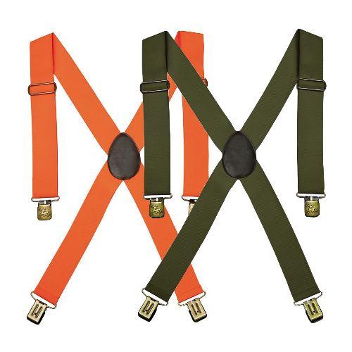 Bretelles e lastiques vert et orange verney carron portbrush