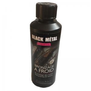 Bronzage a froid canon noir black metal pour arme de chasse