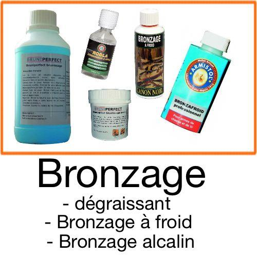 Bronzage a froid et a chaud metal canon arme