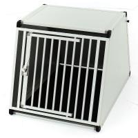 Cage aluminium chien pour coffre de voiture 65 x 69 x 71 cm